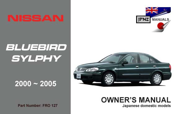 nissan bluebird sylphy car owners user manual 2000 Nissan Sylphy EV Nissan Sylphy 2008