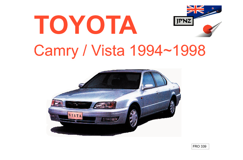 toyota camry vista car owners manual 1994 1998. Black Bedroom Furniture Sets. Home Design Ideas