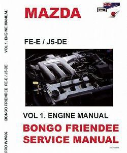 Mazda Bongo Friendee Workshop Manual