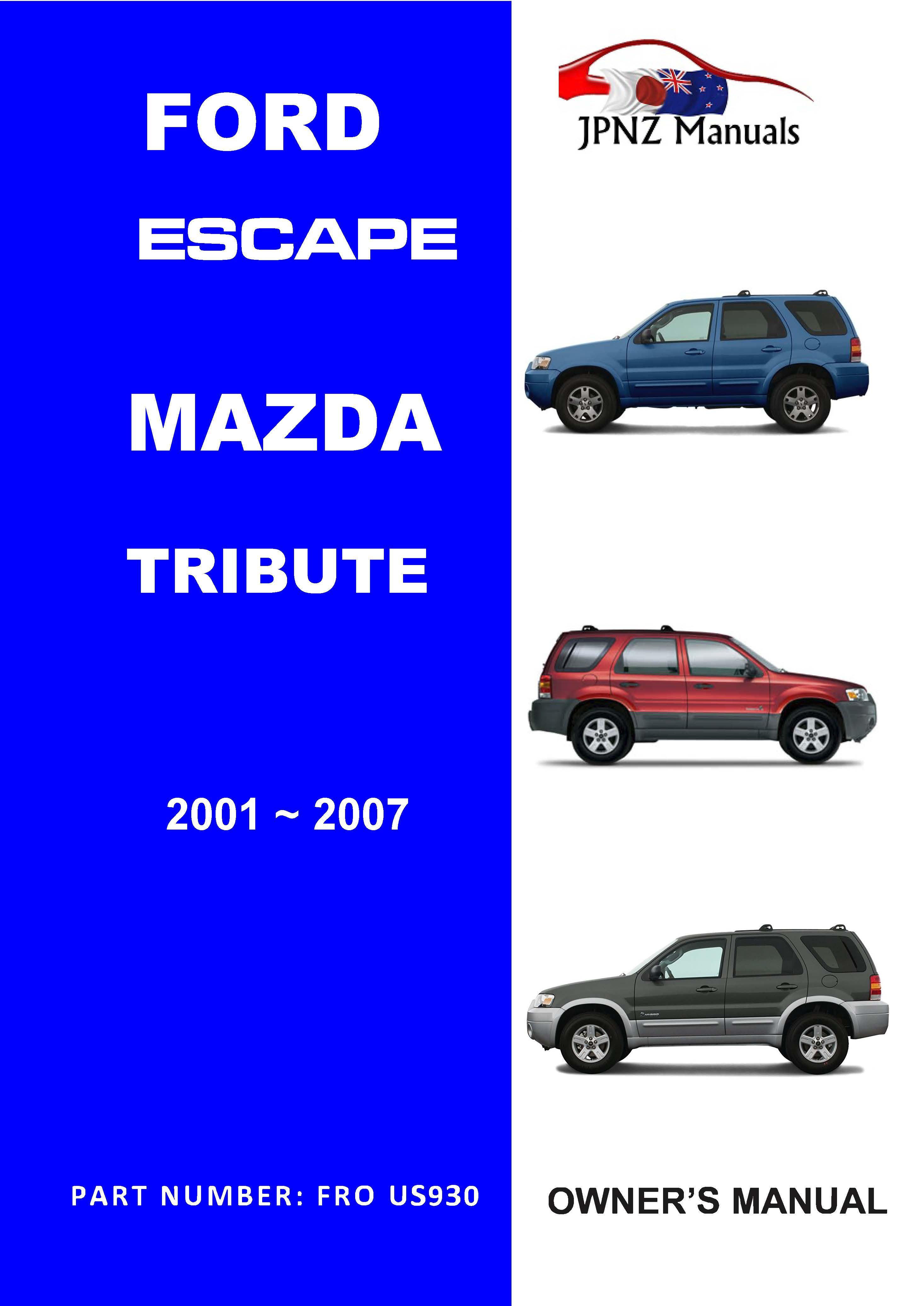 2007 ford escape owners manual