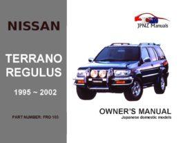 Nissan - Terrano / Regulus Car Owners User Manual In English | 1995 - 2002