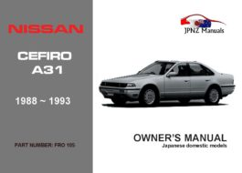 Nissan - Cefiro A31 Car Owners Manual In English | 1988 - 1993