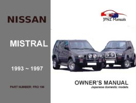 Nissan - Mistral Car Owners User Manual in English | 1993 - 1997