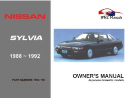 Nissan - Silvia / 180SX Car Owners User Manual In English | 1988 - 1992