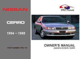Nissan - Cefiro Car Owners User Manual In English | 1994 - 1998