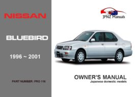 Nissan - Bluebird Car Owners User Manual In English | 1996 - 2001