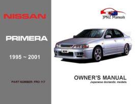 Nissan - Primera P11 Car Owners User Manual In English | 1995 - 2001