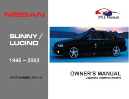 Nissan - Sunny / Lucino Car Owners User Manual In English | 1995 - 2002