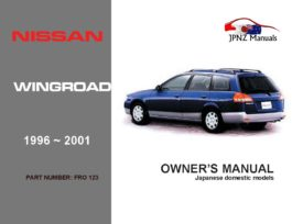 Nissan - Wingroad Car Owners User Manual In English | 1996 - 2001 | Y10