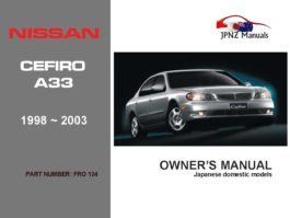 Nissan - Cefiro A33 Owners User Manual In English 1998 ~ 2003