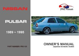 Nissan - Pulsar N14 Owners User Manual In English | 1989 - 1995
