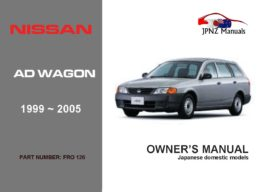 Nissan - AD Wagon Car Owners User Manual In English | 1999 - 2005