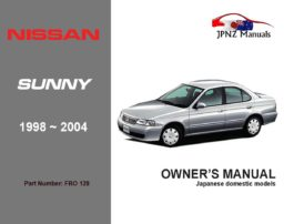 Nissan - Sunny Car Owners User Manual In English | 1998 - 2004