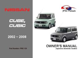 Nissan - Cube / Cubic Car Owners Manual In English | 2002 - 2008