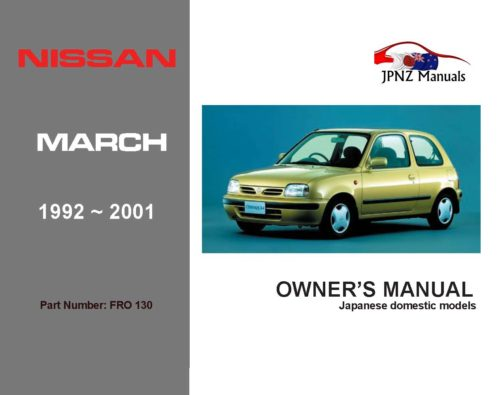 Nissan - March Car Owners User Manual In English   1992 - 2001