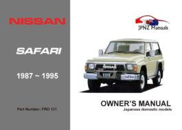 Nissan - Safari Car Owners User Manual In English | 1987 - 1995