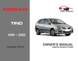 Nissan - Tino Car Owners User Manual In English | 1998 - 2002