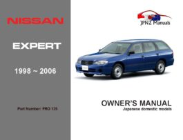 Nissan - Expert Owner's User Manual In English   1998 - 2006