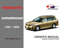 Nissan - Wingroad Car Owners User Manual In English | 1999 - 2006 | Y11