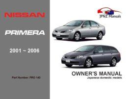 Nissan - Primera P12 Car Owners User Manual In English | 2001 - 2006
