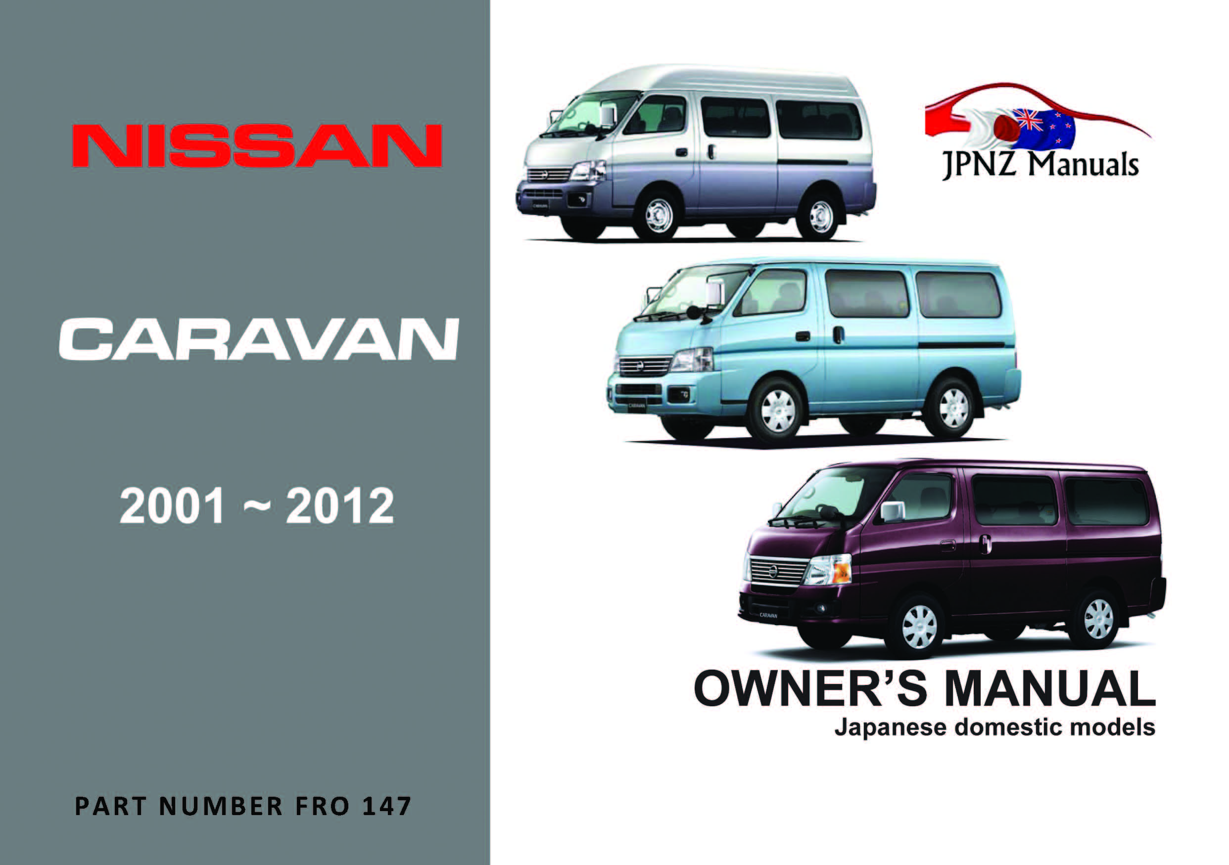 Nissan – Caravan owners manual 2001 – 2012