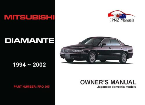 Mitsubishi - Diamante Car Owners User Manual In English   1994 - 2002