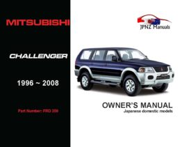 Mitsubishi - Challenger Owner's User Manual In English | 1996 - 2008