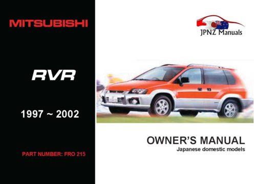 Mitsubishi - RVR Car Owners User Manual In English   1997 - 2002