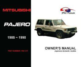 Mitsubishi - Pajero Owner's User Manual In English | 1985 - 1990