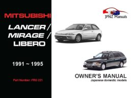 Mitsubishi - Lancer / Mirage / Libero Owners User Manual In English | 1991 - 1995