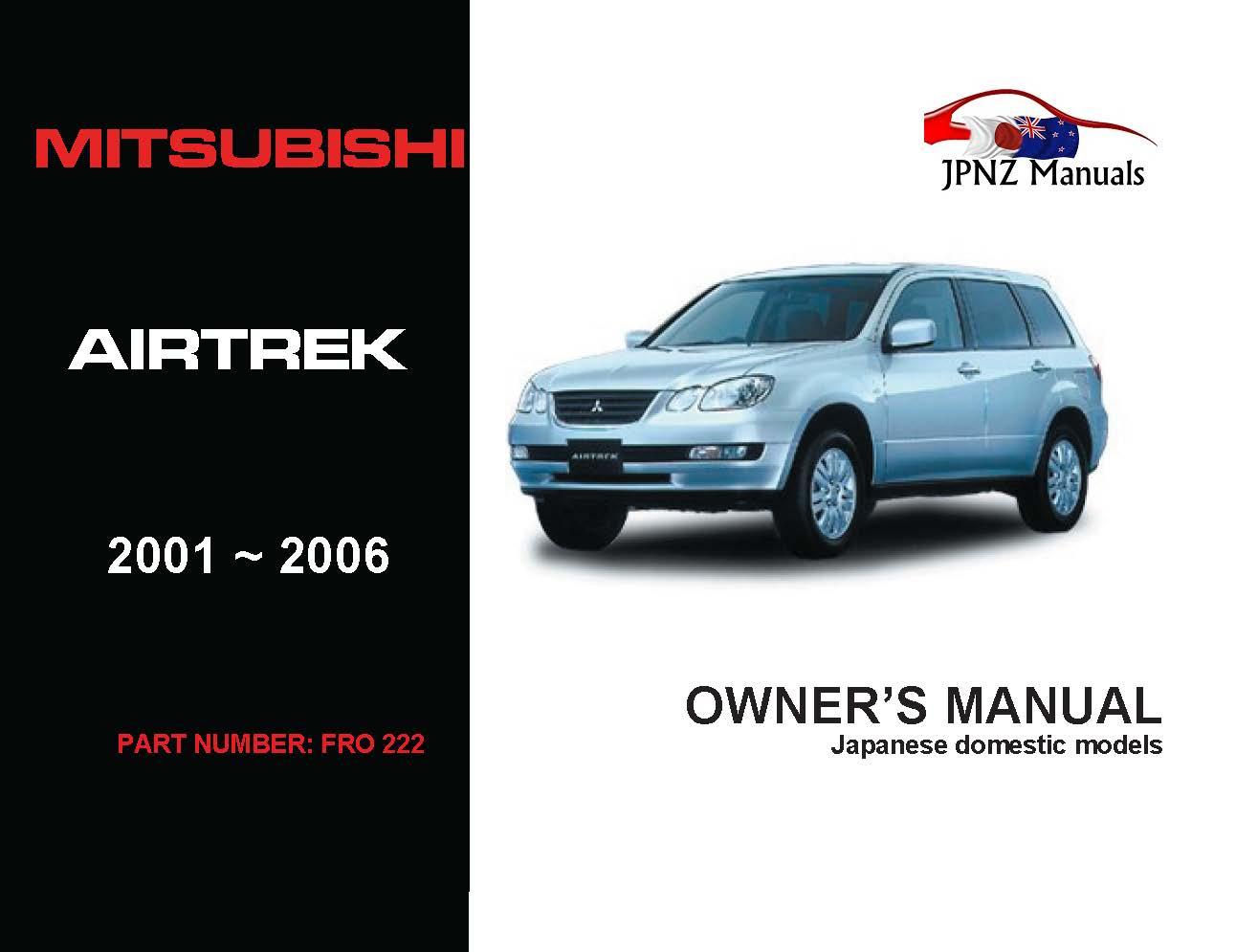 Mitsubishi - Airtrek Car Owners User Manual In English   2001 - 2006