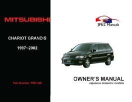 Mitsubishi - Chariot Grandis Owner's User Manual In English | 1997 - 2003