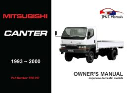 Mitsubishi - Canter Owners User Manual In English | 1993 - 2000