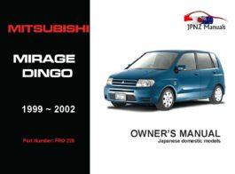 Mitsubishi - Mirage Dingo Owners User Manual In English | 1999 - 2002