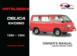 Mitsubishi - Delica Exceed Car Owners User Manual In English | 1989 - 1994