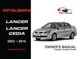 Mitsubishi - Lancer / Lancer Cedia Car Owners User Manual In English | 2003 - 2010