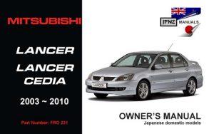 manual mitsubishi lancer 2008 pdf