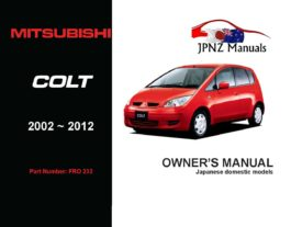 Mitsubishi - Colt Owner's User Manual In English | 2002 - 2012