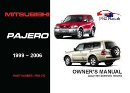 Mitsubishi - Pajero Car Owners User Manual In English | 1996 - 2006