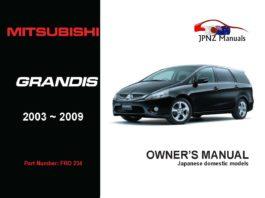 Mitsubishi - Grandis Owners User Manual In English | 2003 - 2009