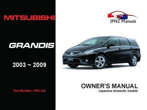 Mitsubishi - Grandis Owners User Manual In English   2003 - 2009