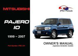 Mitsubishi - Pajero IO Owners User Manual In English | 1999 - 2007