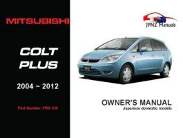 Mitsubishi - Colt Plus Owner's User Manual In English | 2004 - 2012