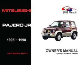 Mitsubishi - Pajero Junior Owner's User Manual In English   1995 - 1998