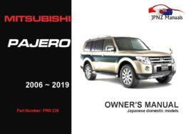 Mitsubishi - Pajero Owners User Manual In English | 2006 - 2019