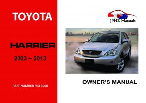 Toyota Harrier car owners user manual | 2003 - 2013