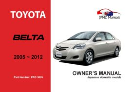 Toyota - Belta Owner's User Manual In English | 2005 - 2012