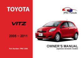 Toyota - Vitz Owners User Manual In English | 2005 - 2011