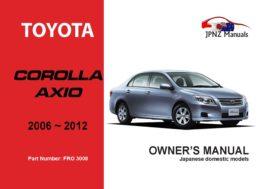 Toyota - Corolla Axio Owner's User Manual In English   2006 - 2013