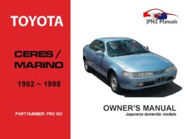 Toyota - Ceres / Marino Owners User Manual In English | 1992 - 1998